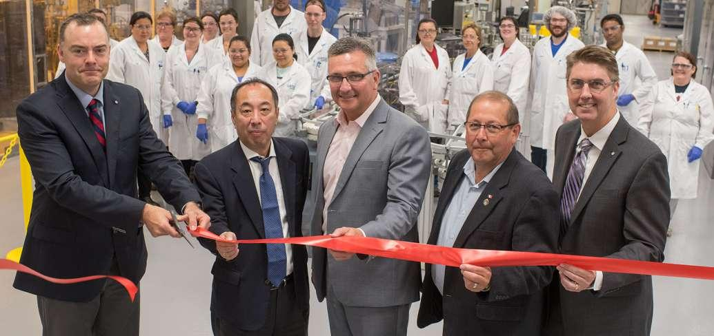 Officials cut red ribbon to officially open expansion at Sekiusi facility in Charlottetown, PEI
