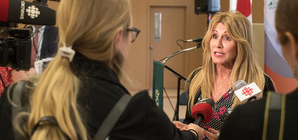 Minister Tina Mundy announces major changes to social assistance