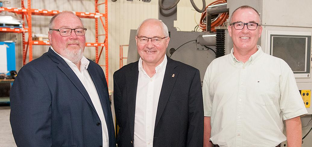 GM Thane Smallwood, MP Wayne Easter and Minister Chris Palmer