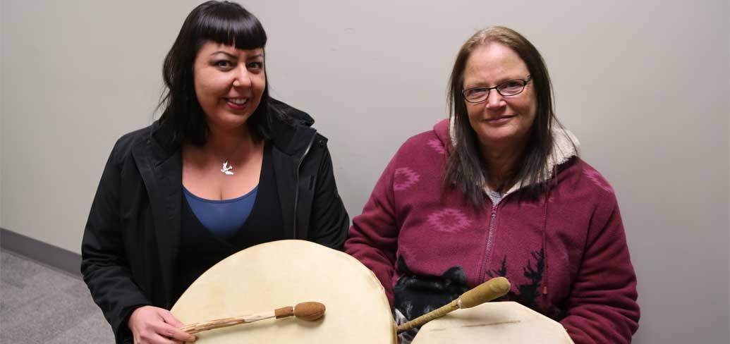 Lalana Paul and Lisa Cooper of the Native Council of PEI