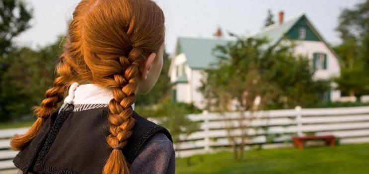 Anne of Green Gables looks at Green Gables