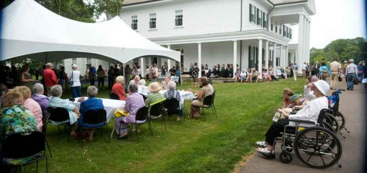 Garden party on the lawn of Government House