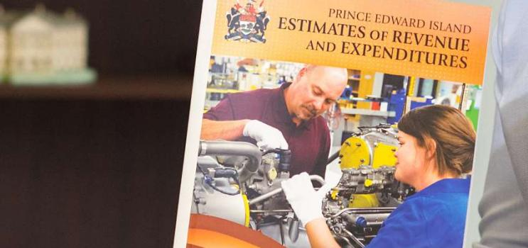 Cover of PEI budget document