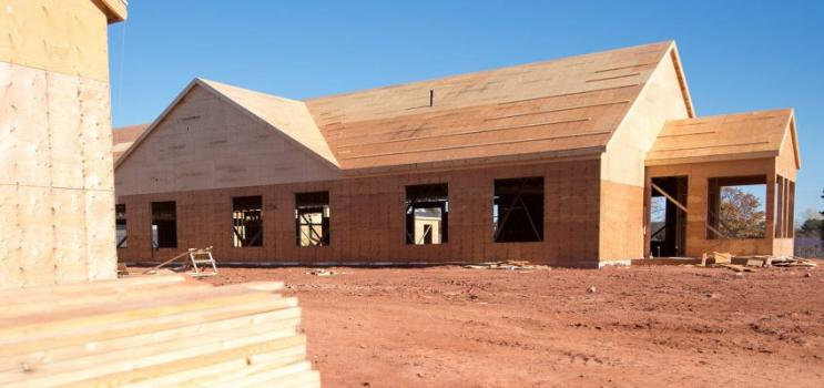 Image of house under construction in PEI to promote Building Codes PEI