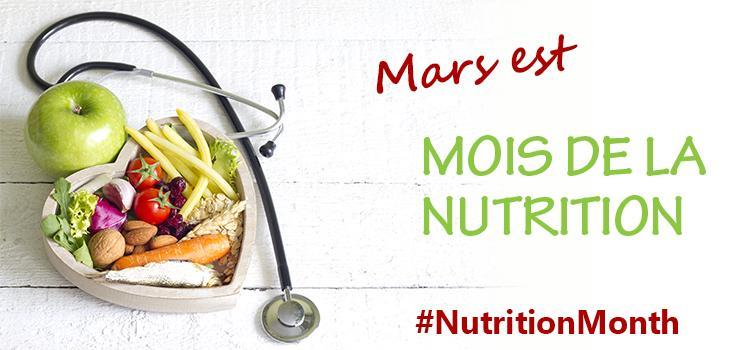 Mars est le Mois de la nutrition