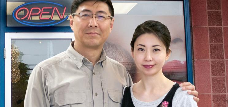 Owners of Color Chic @ Fong Fong: Fisher and Fong Fong Wang