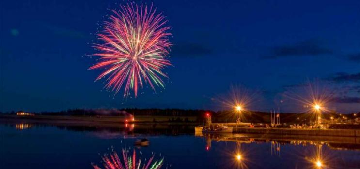 Fireworks over North Rustico for Canada Day