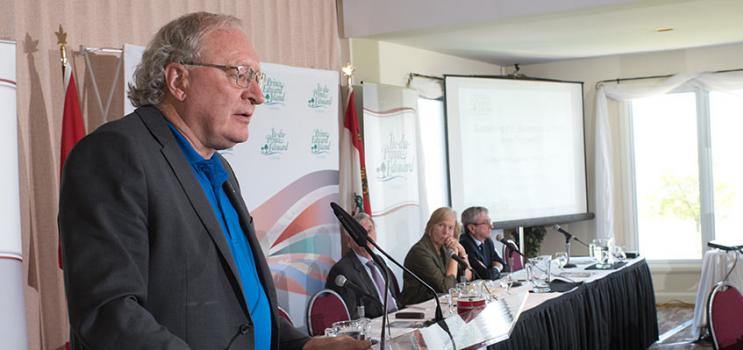 Premier Wade MacLauchlan addresses Economic Forum 2017