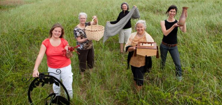 PEI crafters in field