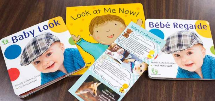 Board books for babies and Baby's First Library Card