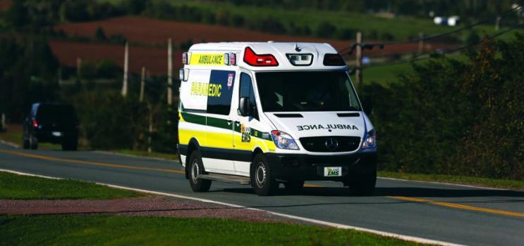 Ambulance on PEI highway