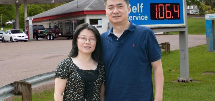 Owners of Miller's Esso: Tingting and Yalin Hu