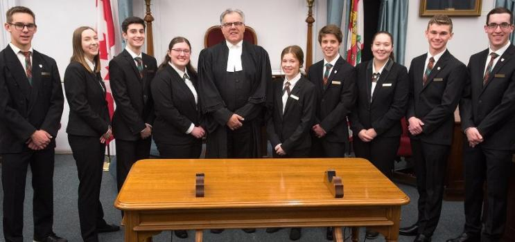 Group of Legislative Assembly of Prince Edward Island Pages and Speaker of the House