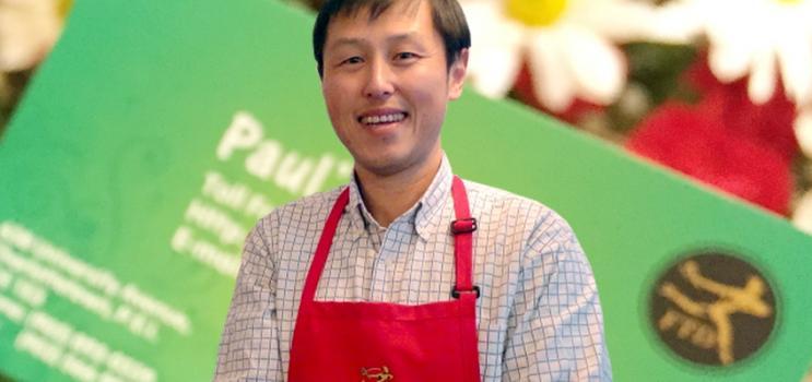 Owner of Paul's Flowers: Larkin Lin
