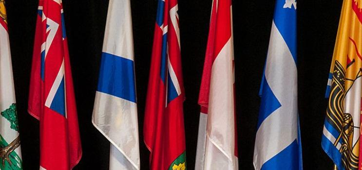 Image of random provincial flags of Canada