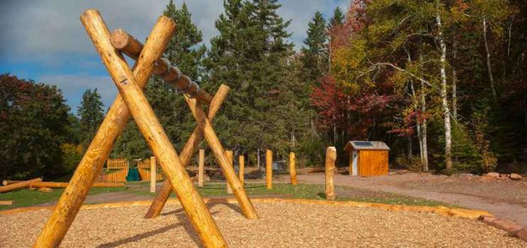 Des structures d'escalade naturelles