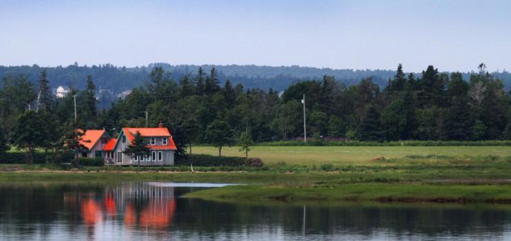 Home on riverside property