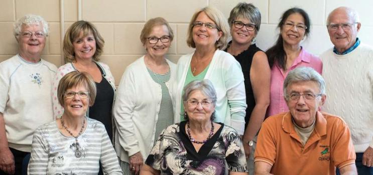 Group shot of members of the Seniors' Secretariat