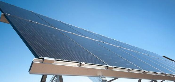 Image of Solar Panel Installation at City of Charlottetown MIltonvale Wellfield project