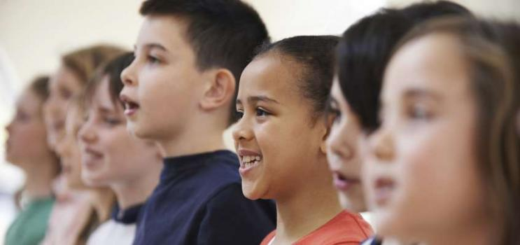 Image of children singing