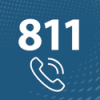 Icon showing 811 and a ringing phone
