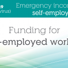 "Image that shows the text ""COVID-19 - Emergency income relief self-employed - Funding for self-employed workers"