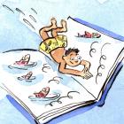 TD Summer Reading program illustration of a child reading