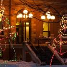 Christmas light display, Coles Building, Charlottetown