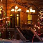 Christmas light display, Coles Building, Charlottetown