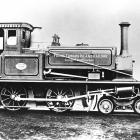 Photograph of a Prince Edward Island railway engine, ca. 1900