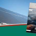 Image of cover of PEI Climate Change Action PLan with image of solar panel in background