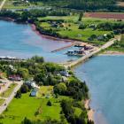 Aerial view of Stanley Bridge