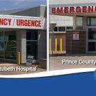 image of emergency entrances for both Queen Elizabeth Hospital and Prince County Hospital