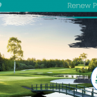 "Graphic and image of PEI golf course with text ""Renew PEI Together"""