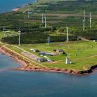 Aerial view of North Cape wind farm