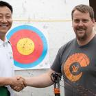 Owners of Precision Core Archery Equipment: Jianan Zhang and Duncan Crawford