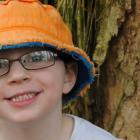 Boy wearing eye glasses
