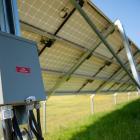 Ground mount solar installation in Pinette, PEI