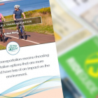 PEI Sustainable Transportation Action Plan cover with image of T3 transit schedule in background