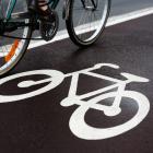 image of bike tires on a paved shoulder