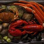 Best of Sea seafood platter of lobster, bar clams, mussels and crab