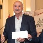 Minister Robert Henderson, ALUS Canada CEO Bryan Gilvesy, Minister Richard Brown.