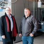 Atlantic Bioheat owner Dick Arsenault and Minister Chris Palmer.