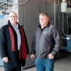 Atlantic Bioheat owner Dick Arsenault and Minister Chris Palmer.