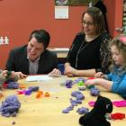 Minister Jordan Brown and owner of Kidz Corner Early Learning Academy Josie Sheehan