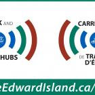 Image of radio waves from  PEI logo
