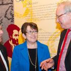 Minister Sonny Gallant, Claudette Thériault and Premier Wade MacLauchlan