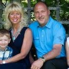 Jennifer Evans with her family.