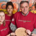 Minister and some students from Three Oaks hold the Envirothon Award