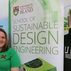 Angela Court and Peter Doiron showcased their work at the Green Expo